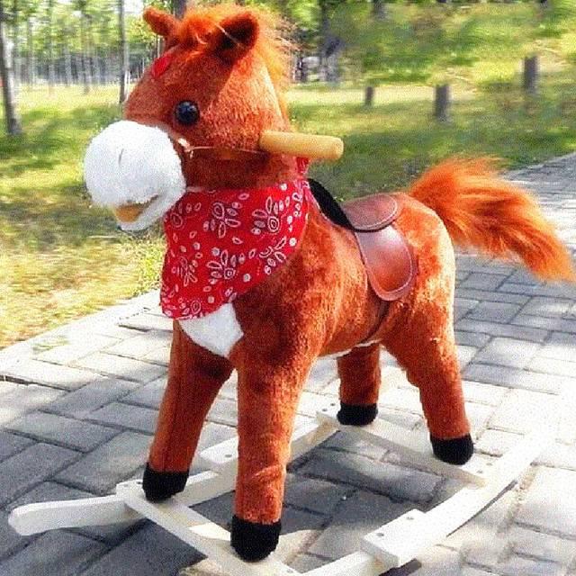 Новые Детские Качели Hrse Игрушки Детская Деревянная Лошадка-качалка Музыкальные Дети Верховая Езда Toddle Деревянный Конь