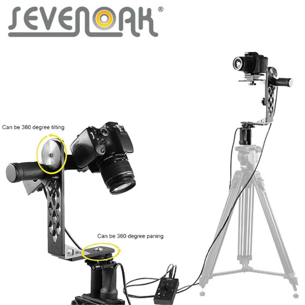 Sevenoak SK-ECH03 Camera Motorized Pan and Tilt head for Canon Nikon Sony DSLR Cameras