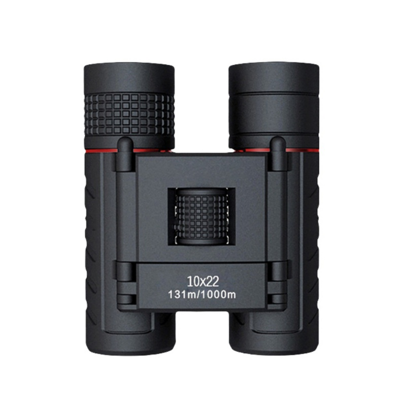 Mini Compact Telescope 10x22 Folding Binoculars Wide Angle High Powered Field Waterproof Outdoor Night Vision hunting tools Pro