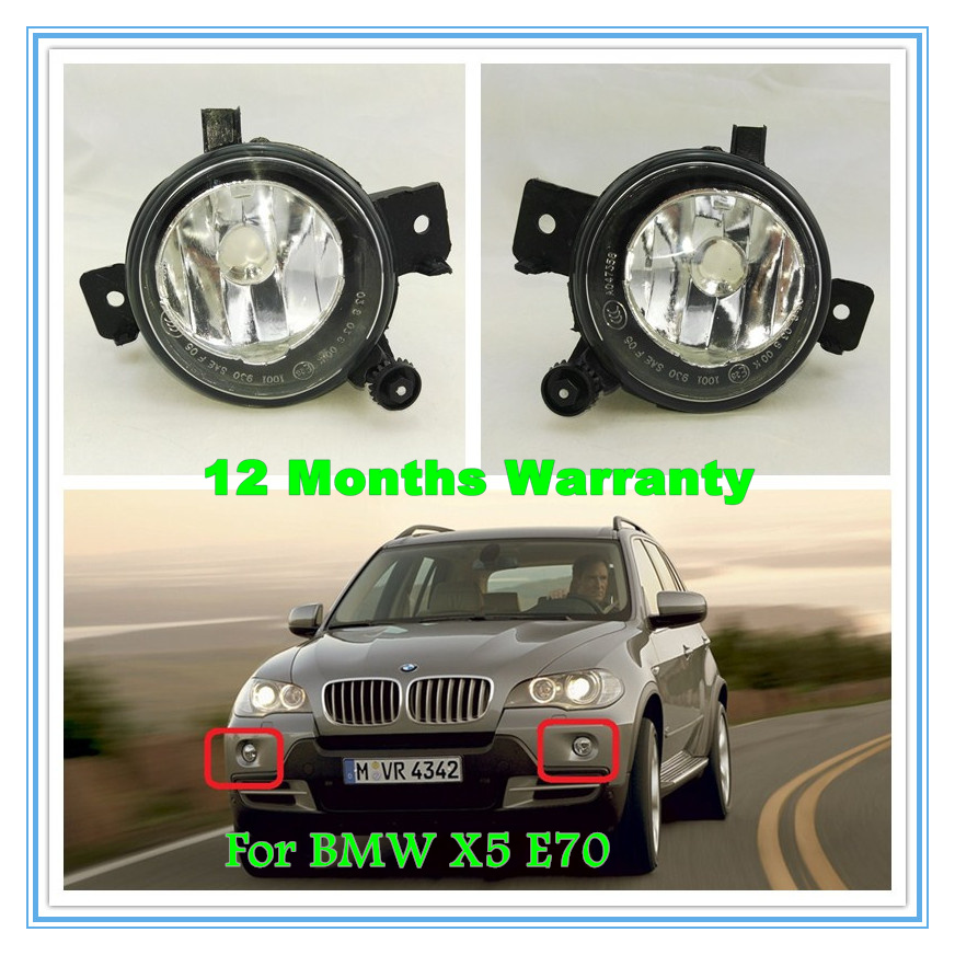 ФОТО 2pcs Free Shipping For BMW X5 E70N 2010 2011 2012 2013 New Front Pair Of Halogen Fog Light Fog Lamp Without Bulb