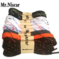 Mr.Niscar 1 Pair Colorful Flat Shoelaces Multi Color Double Layer Thickening Oblique Point Casual Running Shoe Laces Strings