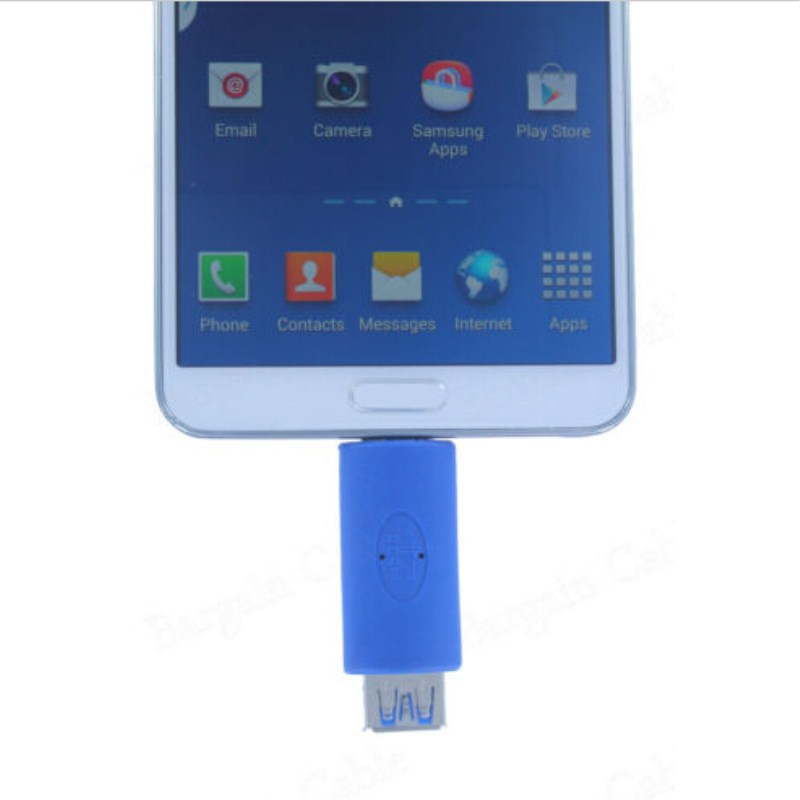Micro USB 3.0 OTG On-the-Go Host Adapter for Sams Galaxy Note 3, Blue