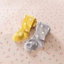 2017 Звезда младенец Девочка колготки девушка новорожденный чулок Хлопка малышей малыша колготки брюки колготки детская одежда мальчик 0M-4Y