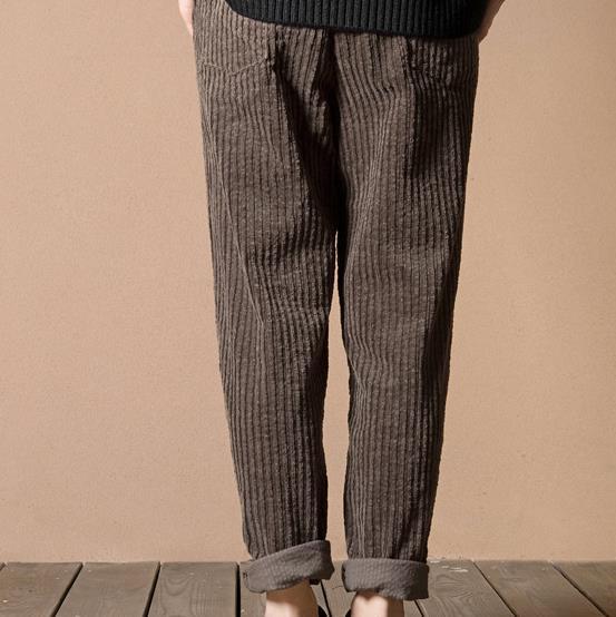 faeb473b312 Vintage Stripe Harem Pants Trousers Corduroy Slim High Elastic Waist Chino  Plus Size Loose Casual Pantlone