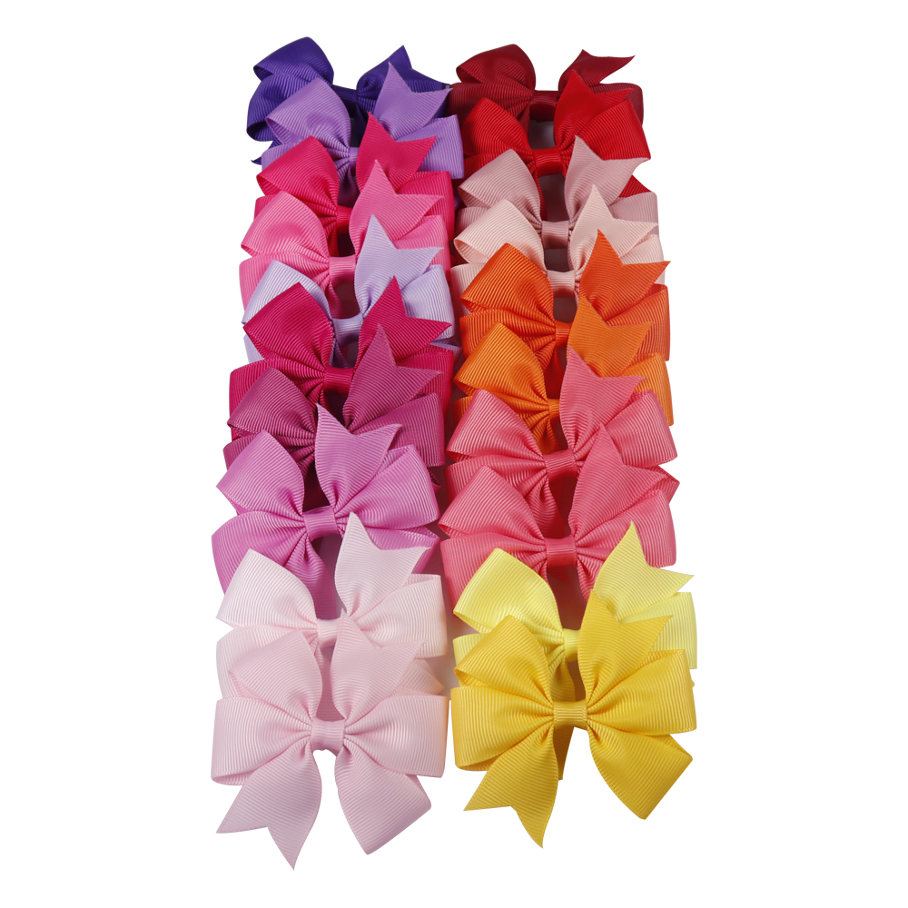 40 Color Available Little girl Ribbon Bow Cute Baby Hair Clip Hairpin Low Cost   Headwear   for Kids Hair Accessories