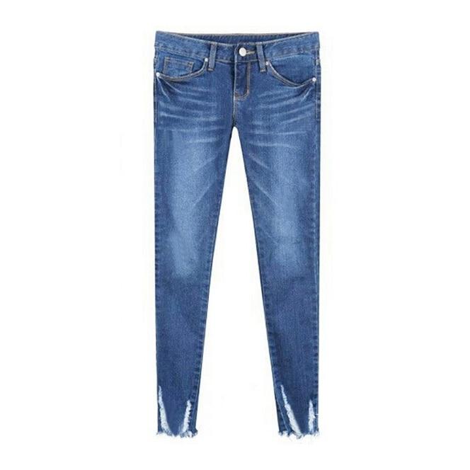 Slim pants summer autumn 2016 burr hole 9 feet Slim jeans female feet women pencil pants