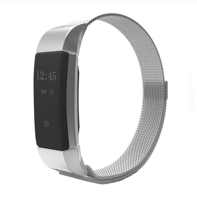 New arrived Luxury Magnetic Milanese Loop Wristband & Link Bracelet Stainless Steel Band Adjustable Closure for Fitbit Charge 2