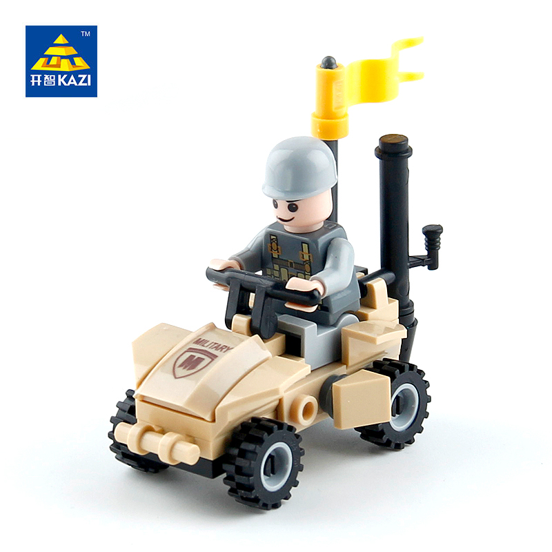 KAZI Military Army Special Forces Motorcycle Building Blocks Sets Bricks Model Brinquedos Educational Toys for Children 6+ 84016 kazi 228pcs military ship model building blocks kids toys imitation gun weapon equipment technic designer toys for kid