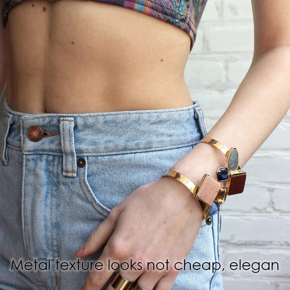 eManco Wide Βραχιόλι Cuff για γυναίκες με - Κοσμήματα μόδας - Φωτογραφία 5