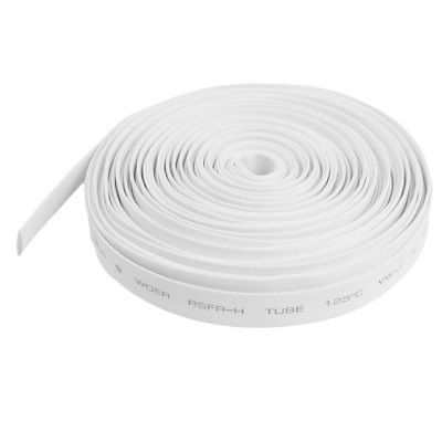 Ratio 7mm Dia White Polyolefin Heat Shrinkable Tube 10M 32.8ft ratio 2 1 7mm dia yellow polyolefin heat shrinkable tube 10m