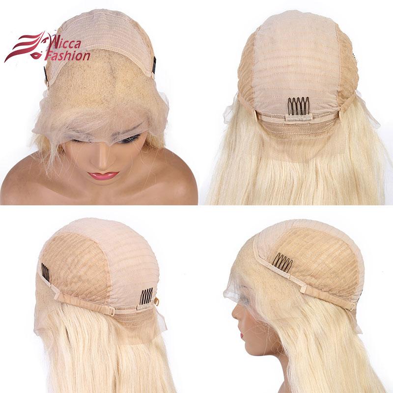 Wicca Fashion # 613 Blonde Perücken 130% Dichte Seidige Gerade - Menschenhaar (für Schwarz) - Foto 6
