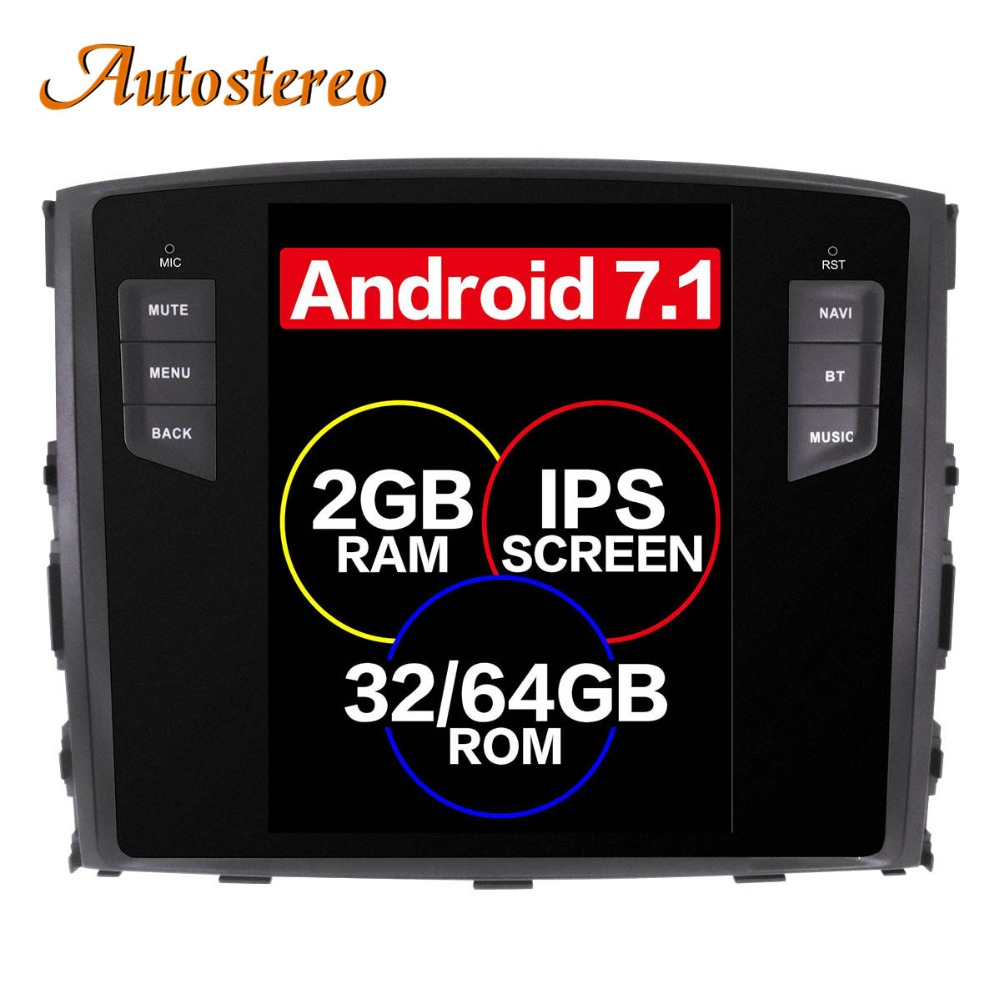 Android 7,1 Тесла стиль автомобиля нет dvd-плеер gps навигации для MITSUBISHI PAJERO V97 V93 Shogun Montero 2006 + головное устройство мультимедиа