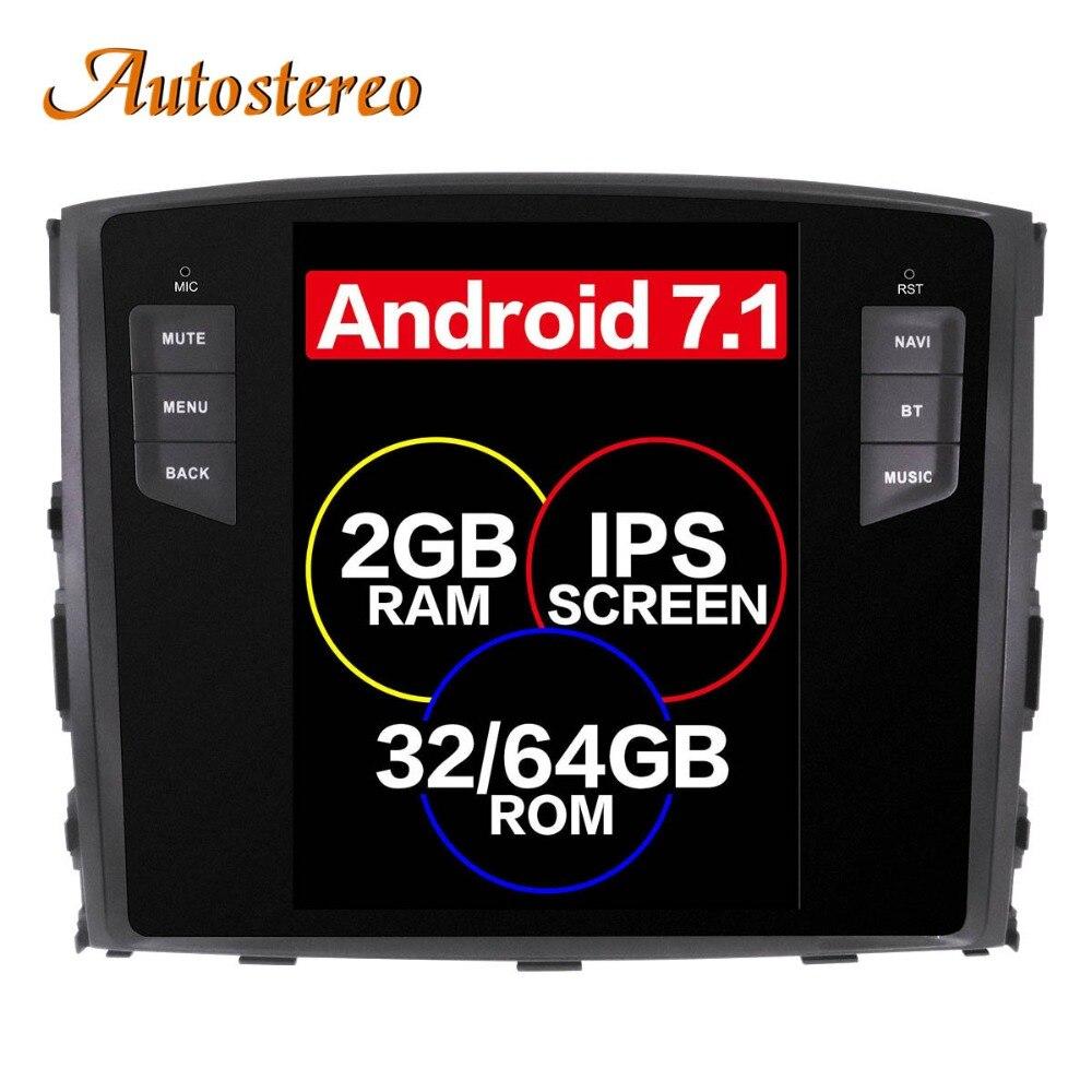 Android 7.1 Tesla style De Voiture Aucun Lecteur DVD GPS Navigation Pour MITSUBISHI PAJERO V97 V93 Shogun Montero 2006 + tête unité multimédia