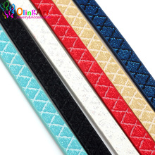 OlingArt newest 6MM 1Yard Diamond pattern lines wire Flat PU Leather Cords /accessories/DIY Bracelet necklace Jewelry making