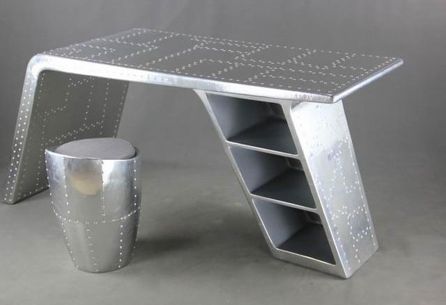 Do The Old Aluminum Furniture Skin Retro Minimalist European Creative Office Computer Desk