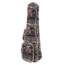 "21″ 23″ 26"" Ukulele Instrument Bags Canvas Guitar Bags With Double Shoulder Strap Cases S M L"