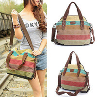 Fashion Women Shoulder Bag Satchel Crossbody Tote Handbag Purse Messenger Canvas Storage Bags