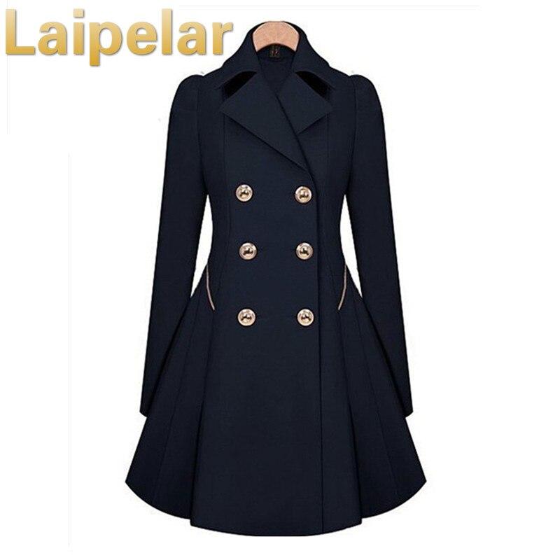 Winter Trench Coat 2018 Hot Sale Womens Coat Classic Waist Was Thin Coat Windbreaker Women Trench  Female Long Sleeve Overcoat