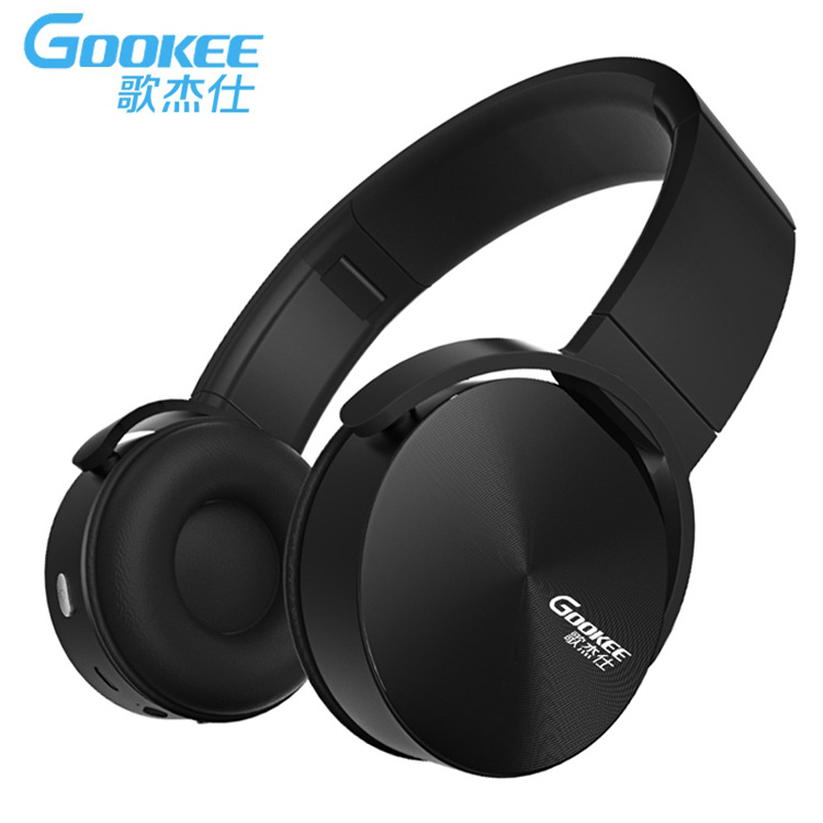 GOOKEE 10mW Sports Wireless Over Ear Earphones Bluetooth Jogger Running game Headphones With Hidden Microphone For Apple Andorid цена