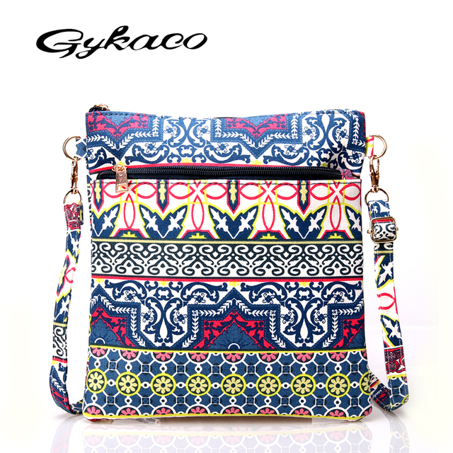 Casual Printing Floral Canvas Sling Shoulder Bag Ladies Small Crossbody Bags Handbags Women Famous Brands Female Messenger Bag