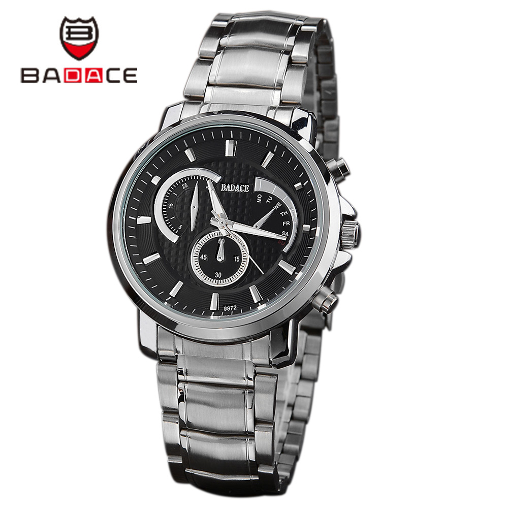 online buy whole mens watch brands list from mens watch new listing men watch luxury badace brand watches quartz clock male stainless steel fashion watch cheap