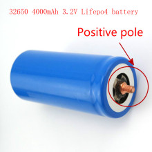 2pcs/lot Hot sell 32650 4000mah 3.2V LiFePO4 battery rechargeable for electric saw,etc