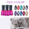 Beau Gel Magnetic Cat Eye Gel Nail Polish Pick 3 Color 7ml Gelpolish Gloss Surface UV/LED Need Gel Varnish Nail Polish