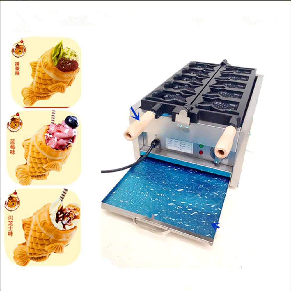 220V open mouth fish cake machine electric heating fish shaped cake machine ice cream taiyaki maker taiyaki maker with ice cream filling taiyaki machine for sale ice cream filling to fish shaped cake fish cake maker