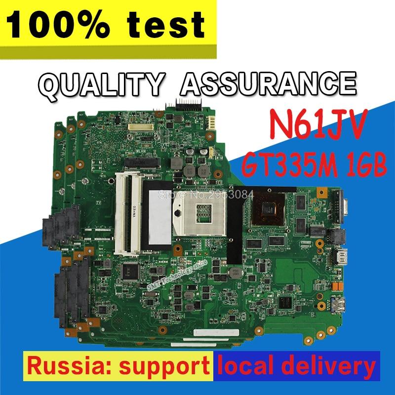 N61JV Motherboard GT335M 1GB cpu For ASUS N61J N61JV Laptop motherboard N61JV Mainboard N61JV Motherboard test 100% OK цена
