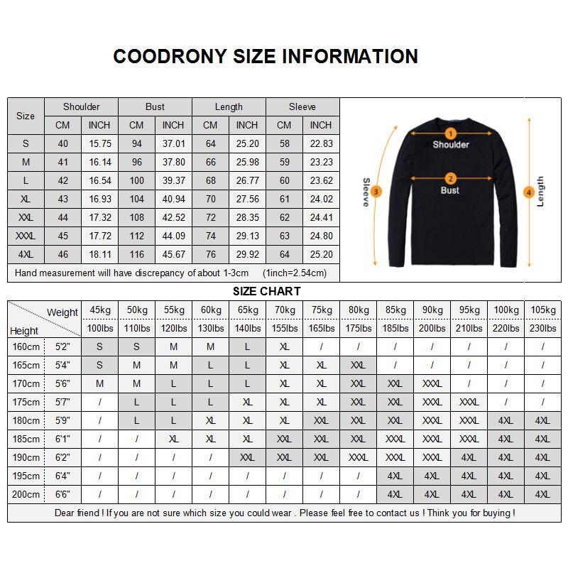 COODRONY Μπλουζάκι T-Shirt Men 2018 Φθινόπωρο - Ανδρικός ρουχισμός - Φωτογραφία 2