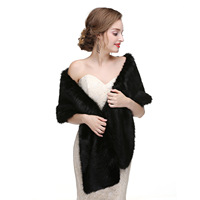 New Women Bolero Faux Fur Stoles High Quality Short Long Fur Bolero Coat Bridal Capes Winter Wedding Jacket fox fur shawl