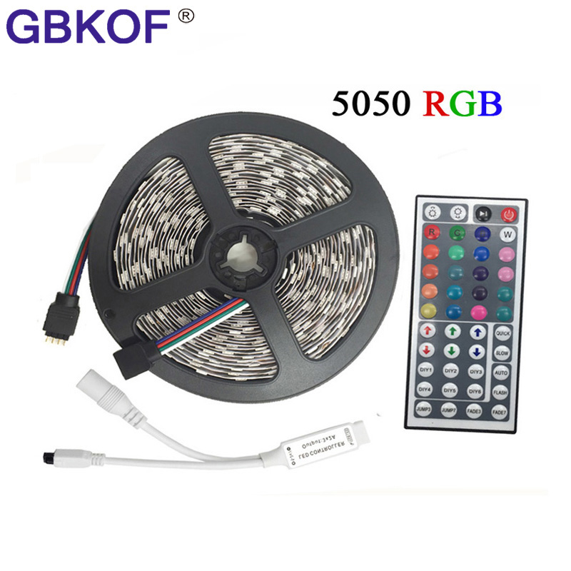 цена на 10M 5M RGB LED Strip 5050 rgbw rgbww set with IR Remote Controler DC 12V SMD5050 60led/M 30leds/M waterproof RGB tape LED Light