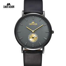 Liber Aedon Leather Band Mens Watch Business Quartz Military Men Wirstwatch Top Brand Luxury Sport Mens