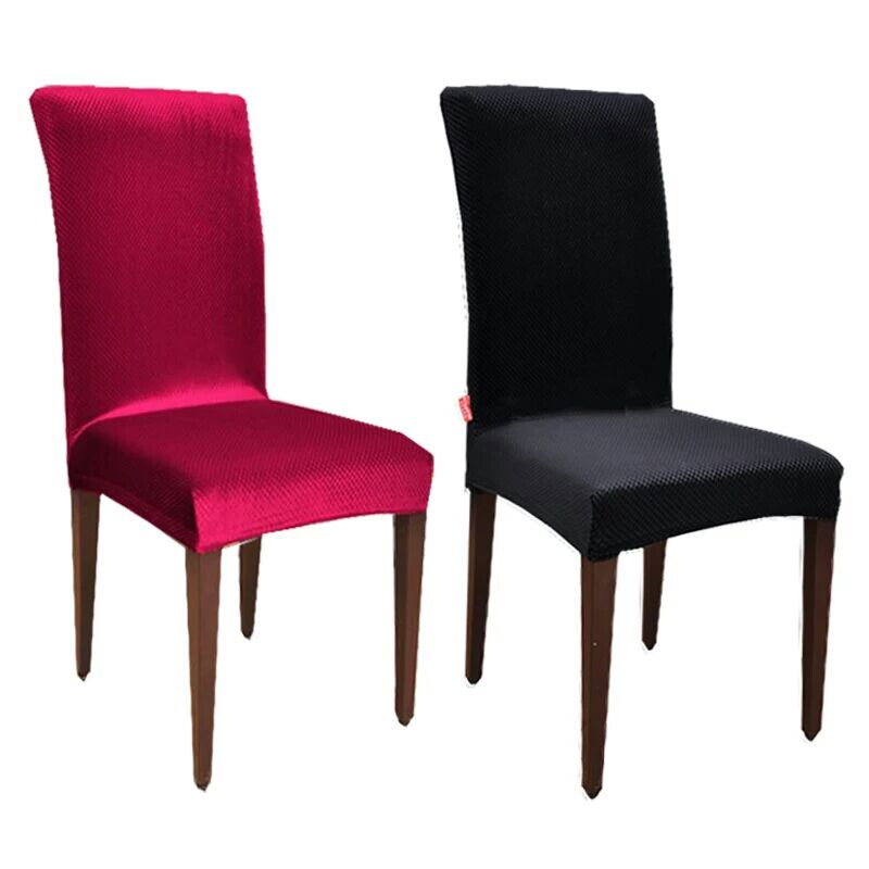 Velvet Fashion Design Universal Elastic chair cover dining housse de - Tekstil rumah - Foto 5