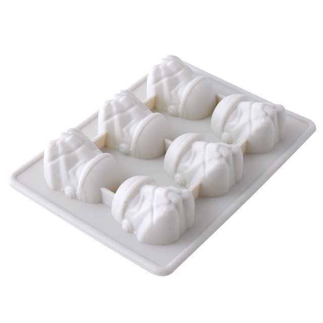 New Durable Silicone Star Wars Storm Trooper Ice Tray Cookies Chocolate Suger Soap Mould DIY Kitchen Tool