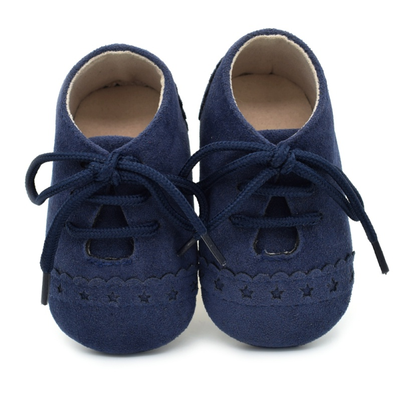 Infant Baby Girls Boys Spring Lace Up Soft Leather Shoes Toddler Sneaker Non-slip Shoes Casual Prewalker Baby Shoes 13