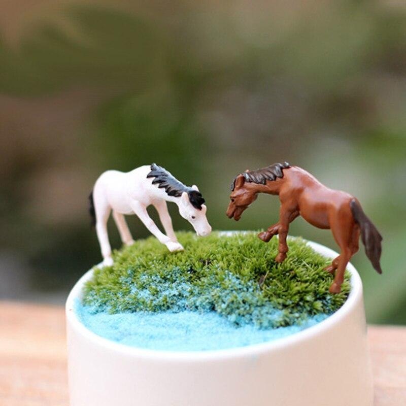 buy lovely cute mini horse micro fairy garden moss decoration miniature. Black Bedroom Furniture Sets. Home Design Ideas