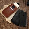 Saco da cintura de couro universal case para iphone 6 6 s 7 para galaxy s7 s7 borda para xiaomi redmi pro 3 cobertura geral bolsa para huawei