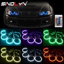 RGB LED עיני מלאך עבור BMW 3 5 סדרת E46 E36 E39 סדאן/Wagon/קופה פנס כוונון DRL הילות רב צבעים Retrofit אבזר