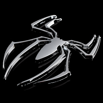 3D Metal Spider Car Accessories Sticker For Peugeot 307 308 407 206 207 3008 406 208 2008 508 408 306 301 106 107 607 4008 5008 image