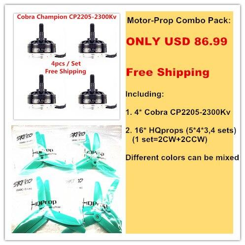 Cobra Motor CP2205 2300 Motor Prop Combo pack for Mini font b drone b font Fpv