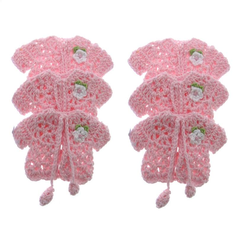 12pcs miniature crochet hat baby shower favors baptism table party decorations