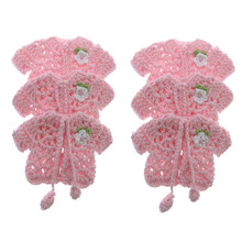 12pcs Handmade miniature crochet sweater flower craft baby shower baptism party table decoration 90 x 56mm