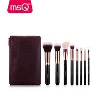 MSQ 8pcs Makeup Brushes Set Rose Gold Foundation Powder Eye Make Up Brushes Kit Soft Goat