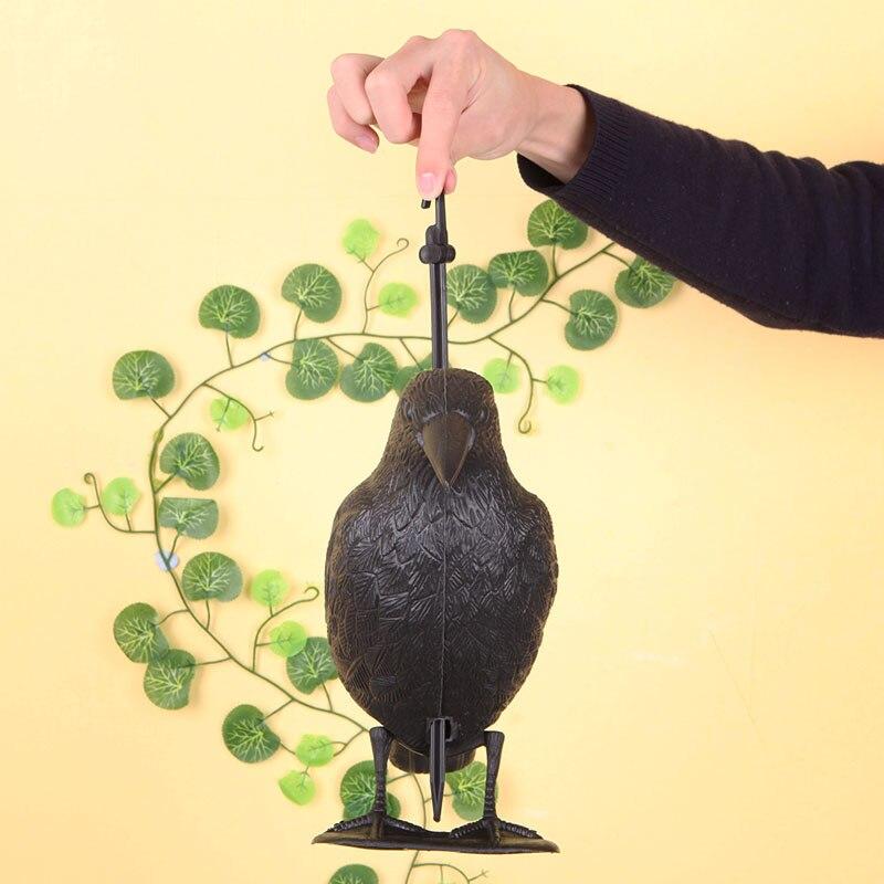 Hunting Lure Crow Bird Decoy Shell Outdoors Trick Shot Shooting Bait Hunt Tool Hunting Decoy     - title=