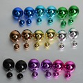 New Fashion Imitated Pearl Earrings Double Sided Bijoux Brand Design Women Wedding Stud Earring Pusety Trendy Jewelry Gift