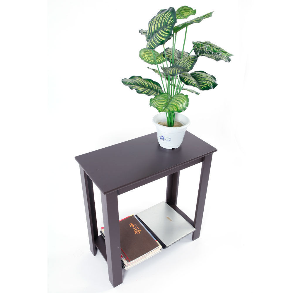 US $29.09  Chair Side Table Coffee Sofa Wooden End Shelf Living Room  Furniture Espresso Hot US Shipping-in Coffee Tables from Furniture on  AliExpress