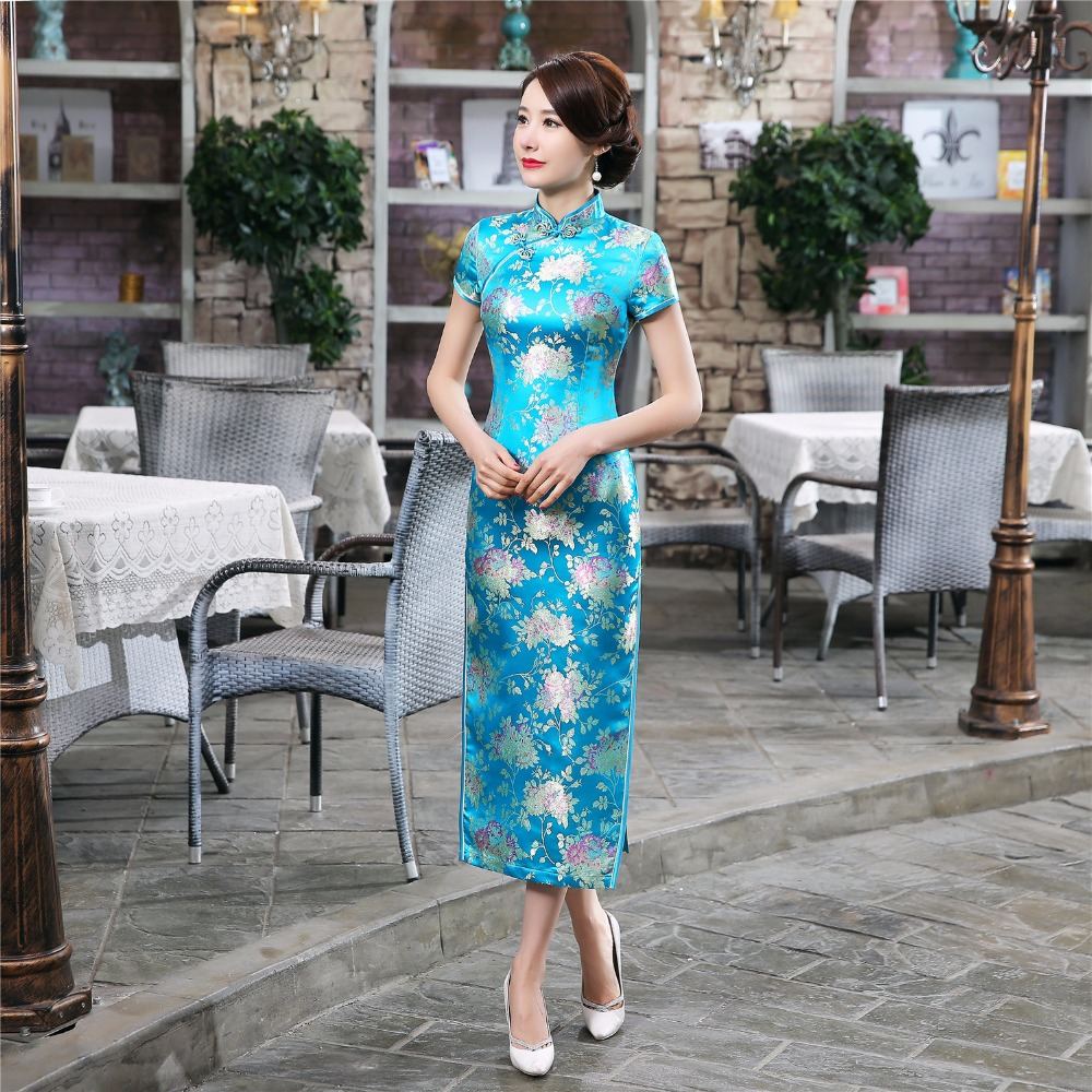 Teal Chinese Dress