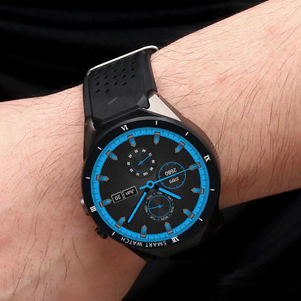 Kaimorui スマート腕時計メンズ心拍数歩数計Android 7.0 スポーツ Bluetooth KW88 プロ GPS 腕時計トラッカーアンドロイド Ios 用