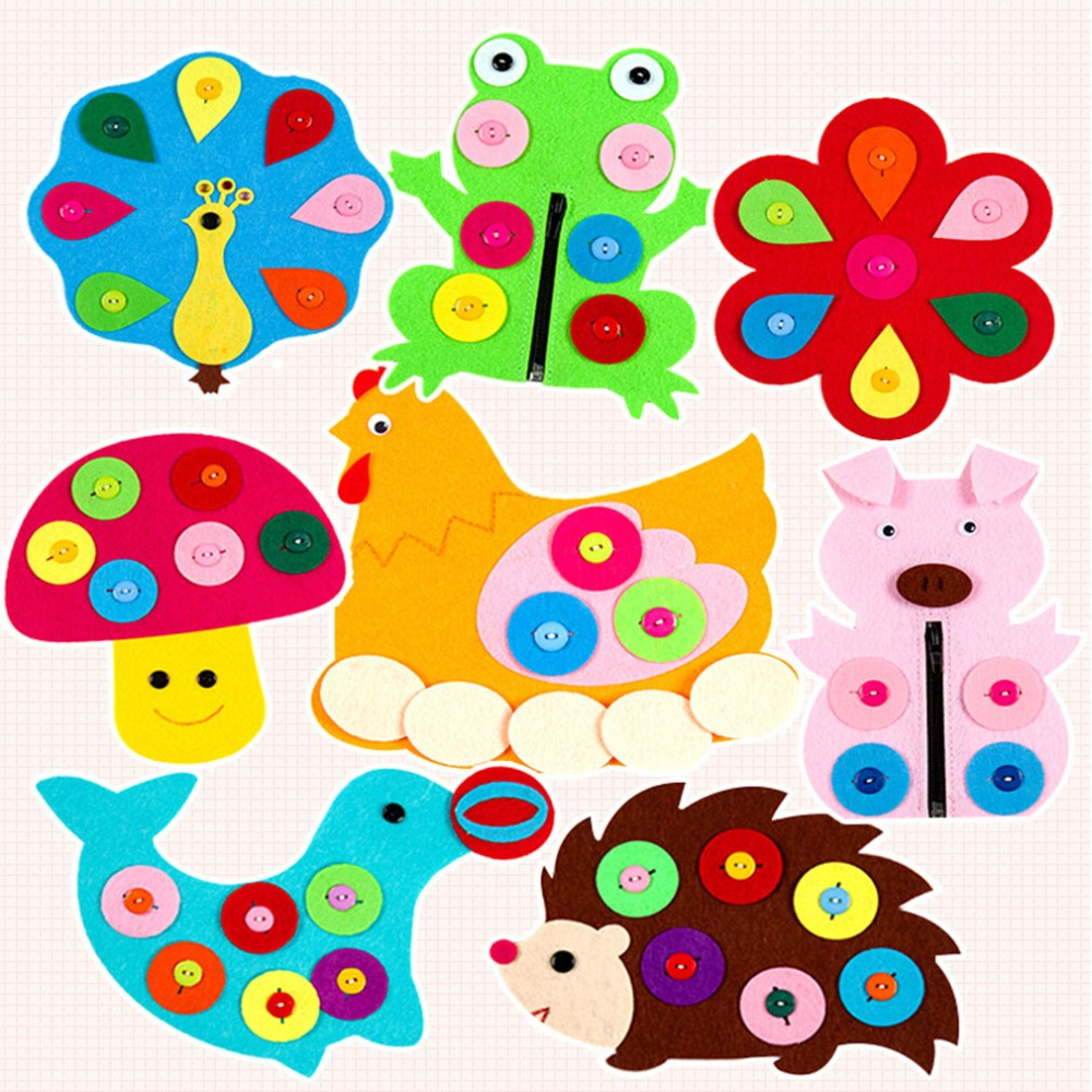 DIY Fabric Material Package Kid Toy Forest Animal Theme Handmade Felt Cutting Felt Non Woven Material Handmade Cloth New Style